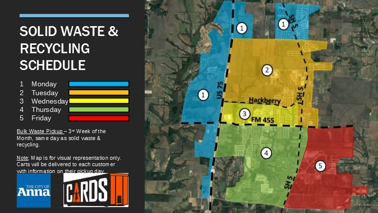 Solid Waste and Recycling Schedule Map