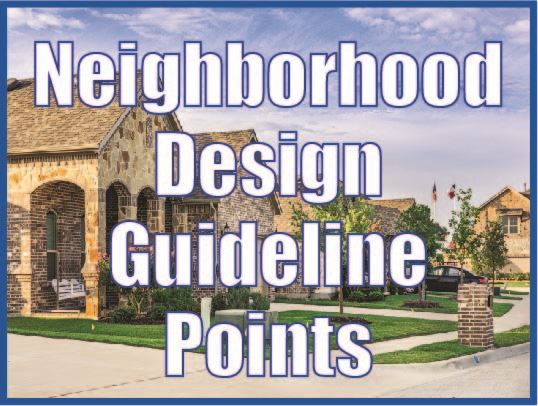 Points for Neighborhood Design Guidelines